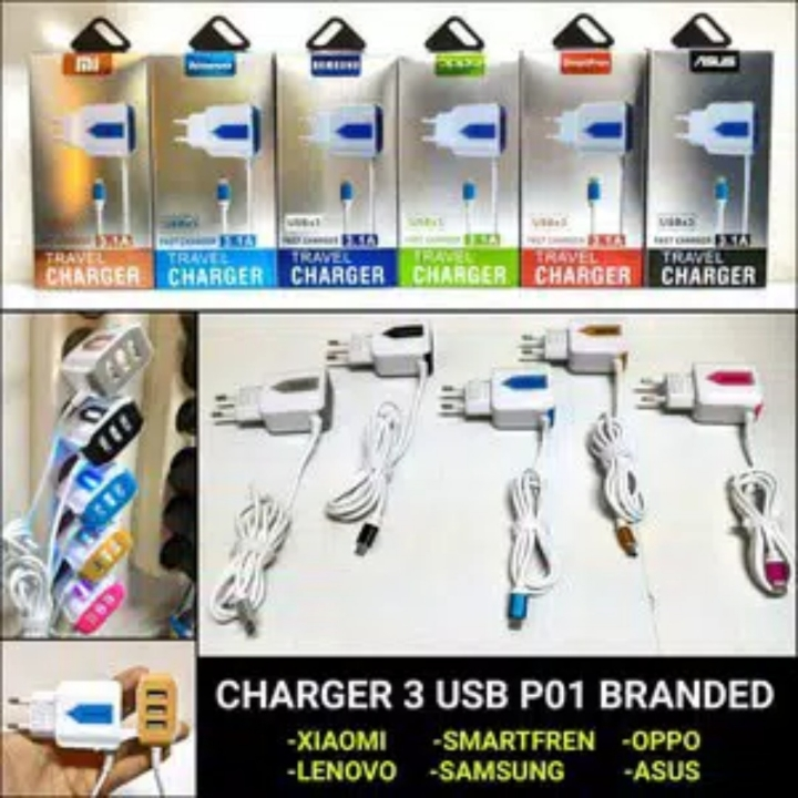 SAMSUNG Smart Fast Charger 3USB LED 31A