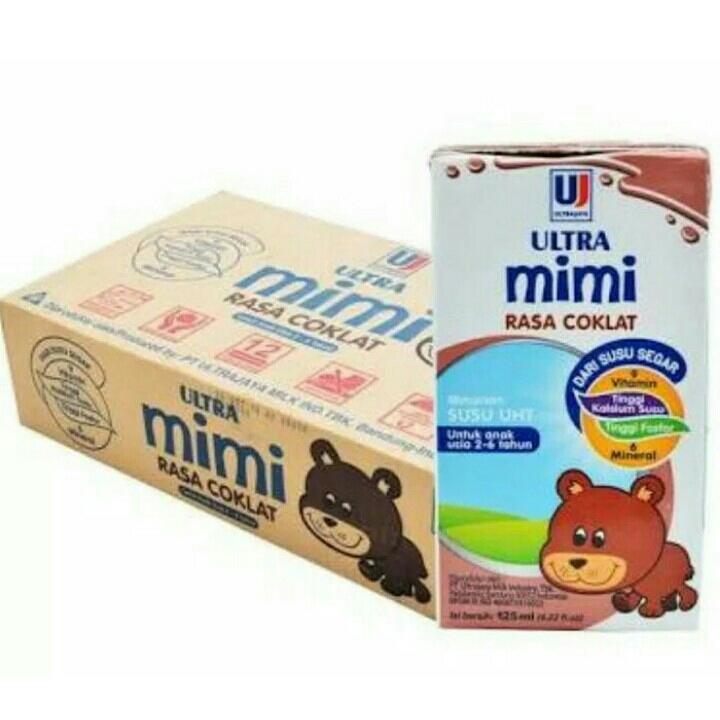 Satu Karton Susu Ultra Mimi Coklat 125ml