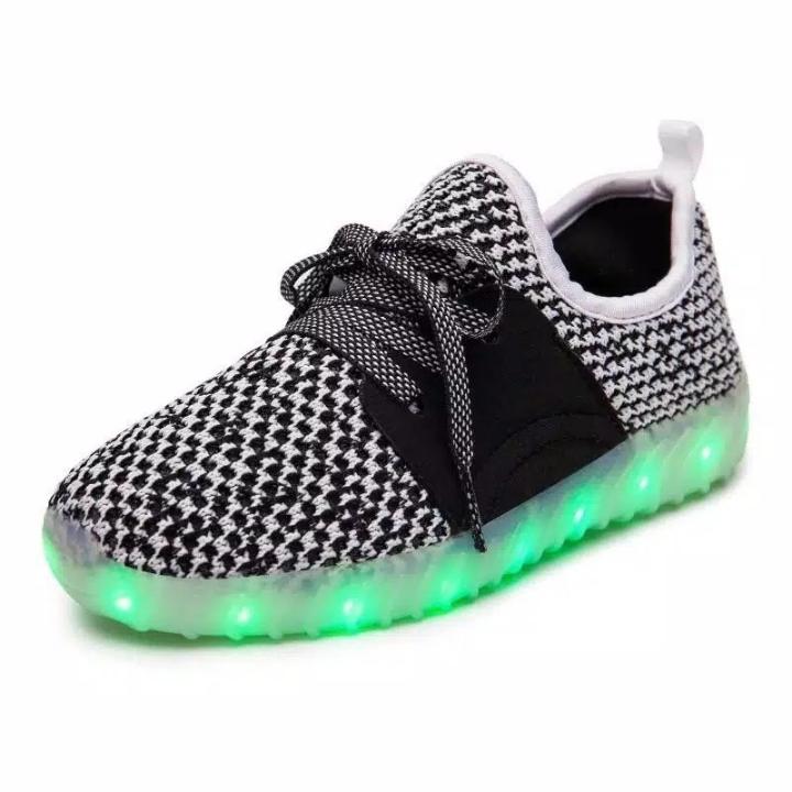 Sepatu Anak LED USB Charging Yeezy