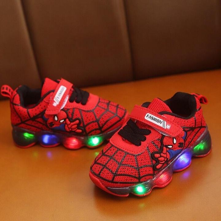 Sepatu Led Spiderman