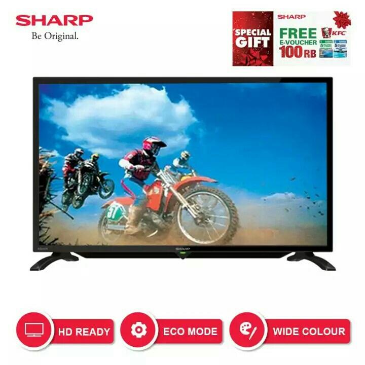 Sharp 32 inch LED HD USB TV - Hitam Model LC-32LE180i