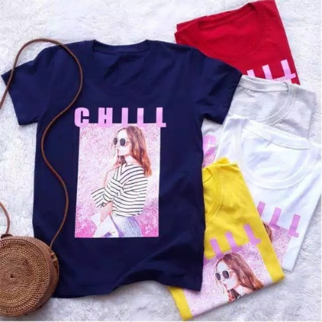 T-shirt Chillkaos cewek ChillTumblr Tee Chill bhn spandex fit l