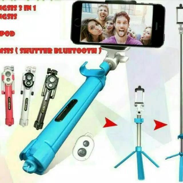 ToNgSiS 3in1  Tripod  Tomsis Bluetooth  Selfie Stick