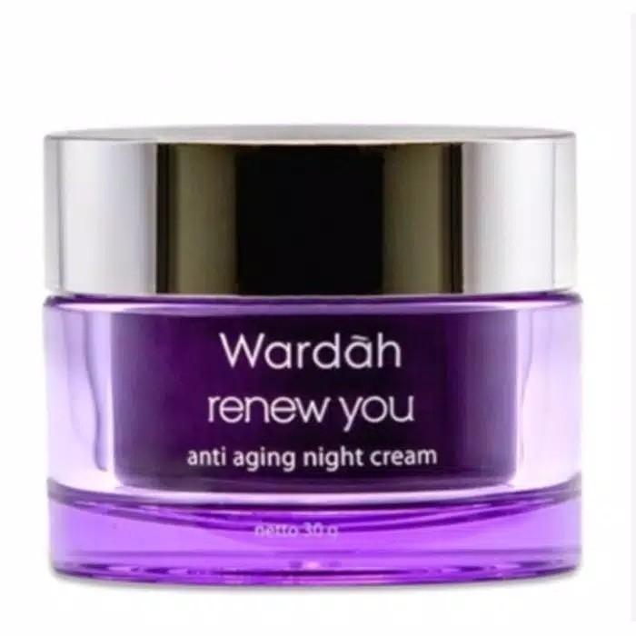 Wardah Renew You Night Cream Anti Aging 30 GRAM Malam Besar