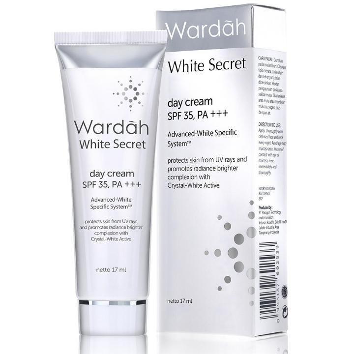 Wardah White Secret Day Cream Tube 17ml