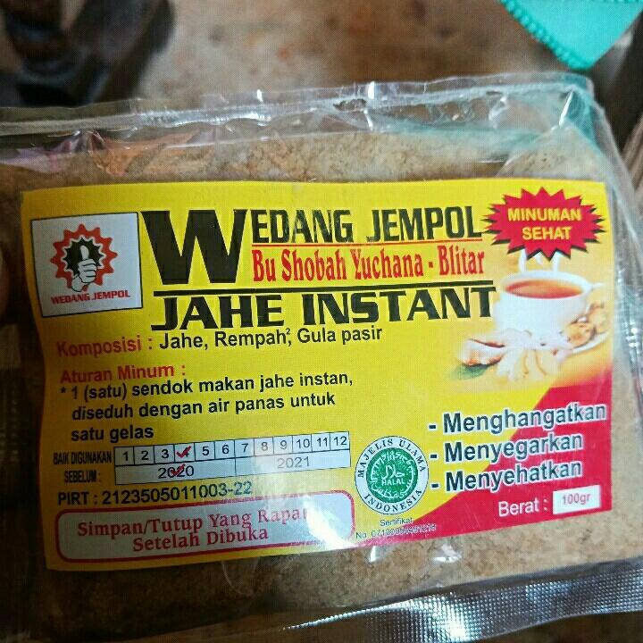 Wedang Jahe Instan 100gr