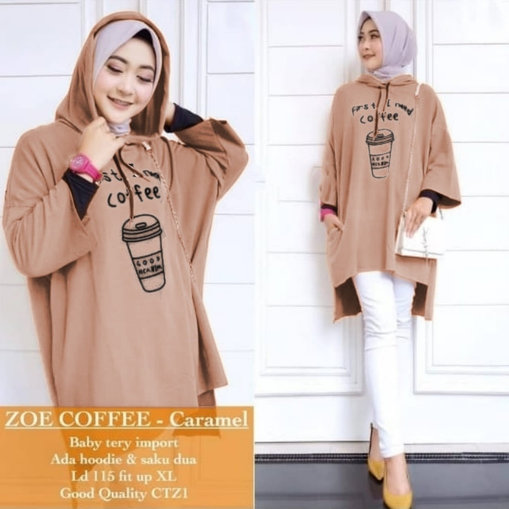 ZOE COFFEE BLOUSE
