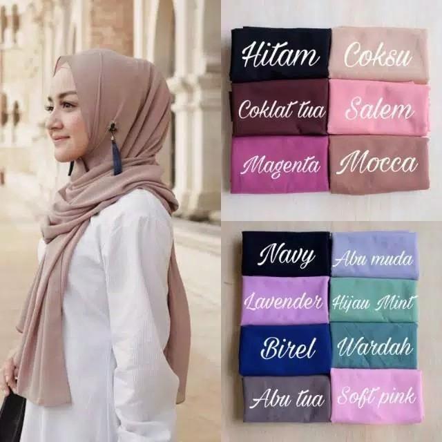 Jilbab Pashmina Dasar Diamond Hijabfest