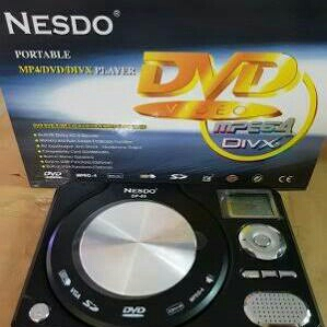 ready stock - dvd portable player nesdo dp-05 dvd mp3 vcd cd mpeg4 div