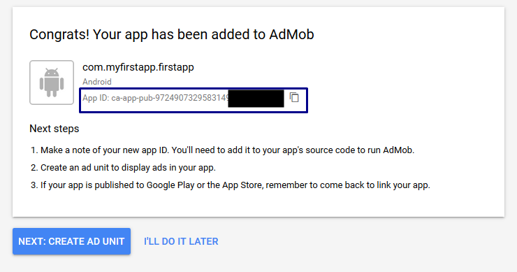 Admob Membuat Aplikasi