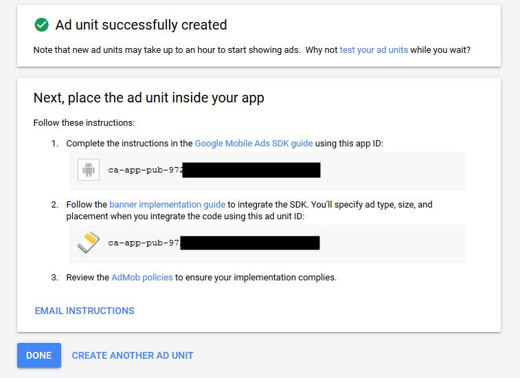 Mendapatkan Google Admob ID